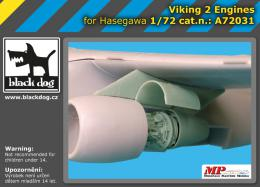 BLACKDOG 1/72 Viking - 2 engines  for HAS