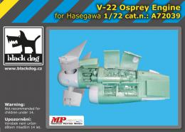 BLACKDOG 1/72 V-22 Osprey engine  for HAS
