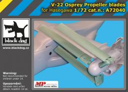 BLACKDOG 1/72 V-22 Osprey propeller blades  for HAS