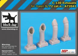 BLACKDOG 1/72 C-130 exhausts  for ITA