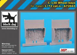 BLACKDOG 1/72 C-130 wheel bays  for ITA