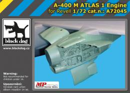 BLACKDOG 1/72 A-400 M Atlas - one engine  for REVELL