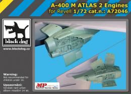 BLACKDOG 1/72 A-400 M Atlas - two engines  for REVELL