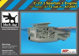 BLACKDOG 1/72 C-27 J Spartan - one engine  for REVELL