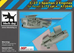 BLACKDOG 1/72 C-27 J Spartan - two engines  for REVELL