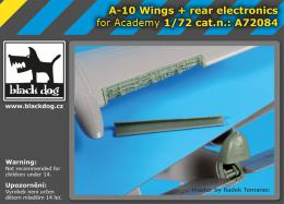 BLACKDOG 1/72 A-10 Warthog wings & rear electronics for ACA