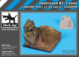 BLACKDOG 1/35 Destroyed BT-7 base  for 100x90 mm