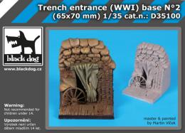 BLACKDOG 1/35 Trench entrance WW I base No.2  for 65x70 mm