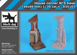 BLACKDOG 1/35 House corner No.5  base  for 60x60 mm