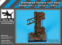 BLACKDOG 1/35 Stalingrad factory ruin base for 85 x 60 mm