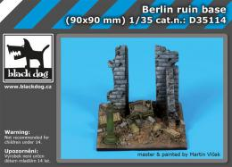 BLACKDOG 1/35 Berlin ruin base for 90 x 90 mm