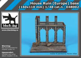 BLACKDOG 1/48 House ruin Europe base (160x100 mm)
