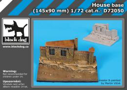 BLACKDOG 1/72 House base  for 145x90 mm
