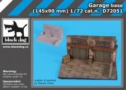 BLACKDOG 1/72 Garage base  for 145x90 mm