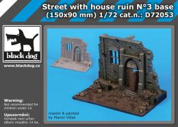BLACKDOG 1/72 Street with house ruin base No.3 (150x90 mm) - zvìtšit obrázek