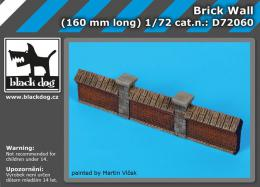BLACKDOG 1/72 Brick wall (160 mm long)