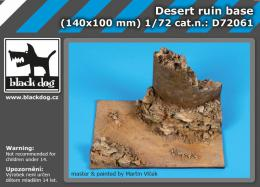 BLACKDOG 1/72 Desert ruin base for 140x100 mm