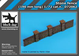BLACKDOG 1/72 Stone fence for 190 mm long