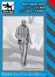 BLACKDOG 1/32 RAF Fighter pilot 1940-45 No.6  for 1 fig.