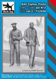BLACKDOG 1/32 RAF Fighter pilots 1940-45 set No.3  for 2 fig.