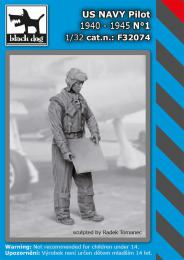 BLACKDOG 1/32 US NAVY pilot 1940-45 No.1 (1 fig.)