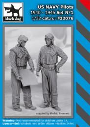 BLACKDOG 1/32 US NAVY pilots 1940-45 set No.1 (2 fig.)