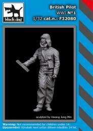 BLACKDOG 1/32 British pilot WWI No.1 (1 fig.)