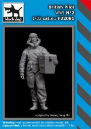 BLACKDOG 1/32 British pilot WWI No.2 (1 fig.)