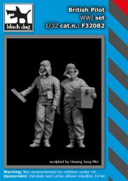 BLACKDOG 1/32 British pilots WWI set (2 fig.)