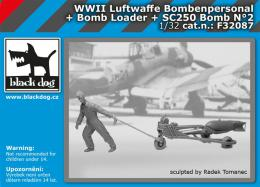 BLACKDOG 1/32 Luftwaffe  WWII personel+bomb loader+SC250 No.2
