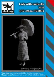 BLACKDOG 1/32 Lady with umbrella WWI for 1 fig.