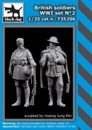 BLACKDOG 1/35 British Soldiers WWI set No.2 (2 fig.)