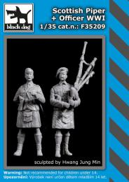BLACKDOG 1/35 Scottish officer + piper WWI (2 fig.)