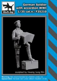 BLACKDOG 1/35 German soldier with accordion WWI (1 fig.)