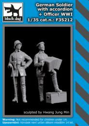 BLACKDOG 1/35 German soldier w/ accordion + officer WWI