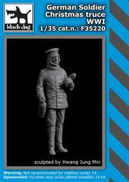 BLACKDOG 1/35 German soldier Christmas truce WWI for 1 fig.