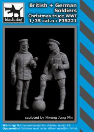 BLACKDOG 1/35 British&German soldiers Christmas truce WWI