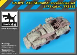 BLACKDOG 1/72 Sd.Kfz 233 Stummel accessories set  for RODEN