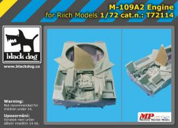 BLACKDOG 1/72 M-109 A 2 engine  for Riich models