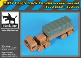 BLACKDOG 1/72 M977 Cargo truck canvas accessories set (ACA)