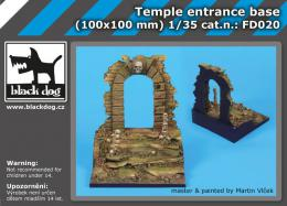 BLACKDOG 1/35 Temple entrance base (100x100 mm)