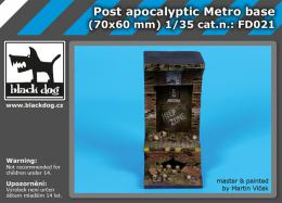 BLACKDOG 1/35 Post Apocalyptic metro base for 70x60 mm