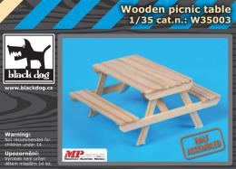 BLACKDOG 1/35 Wooden picnic table