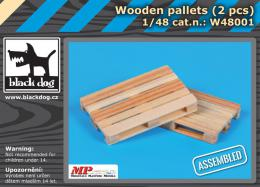BLACKDOG 1/48 Wooden palets (2 pcs.)