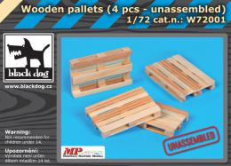 BLACKDOG 1/72 Wooden palets - unassembled (4 pcs.)