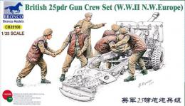 BRONCO 1/35 British 25pdr Gun Crew Set