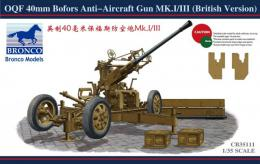 BRONCO 1/35 OQF 40mm Bofors Anti-Aircraft Gun Mk.I/III (British Version)