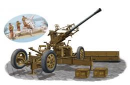 BRONCO 1/35 OQF Bofors 40mm Anti-Aircraft Gun Mk. I/III (British Army)&Gun Crew Set