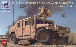 BRONCO 1/35American M1114 Up-Armoured Vehicle with XM153 CROWS II