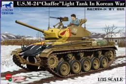 BRONCO 1/35 US M-24 Light Tank Chaffee Korean